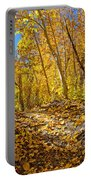 Fall On The Forest Floor Portable Battery Charger