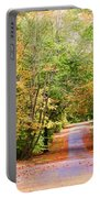 Fall Pathway Portable Battery Charger by Judy Vincent