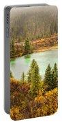 Fall Rain On Wilderness Lake Yukon T Canada Portable Battery Charger
