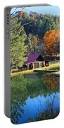 Fall Reflections At The Farm  Portable Battery Charger