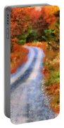 Fall Road To Paradise Portable Battery Charger