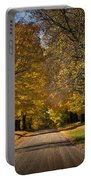 Fall Rural Country Gravel Road Portable Battery Charger