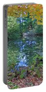Fall Scene By Pond Portable Battery Charger