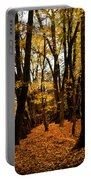 Fall Scene In Bidwell Park Portable Battery Charger