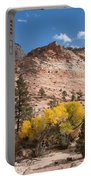 Fall Season At Zion National Park Portable Battery Charger