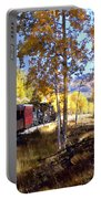 Fall Train Ride New Mexico Portable Battery Charger