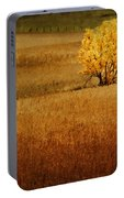 Fall Tree And Field #1 Portable Battery Charger