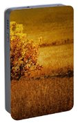 Fall Tree And Field #2 Portable Battery Charger