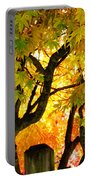 Fall Trees On A Country Road 3 Portable Battery Charger