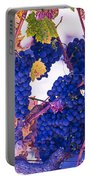 Fall Wine Grapes Portable Battery Charger