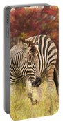 Fall Zebra Portable Battery Charger