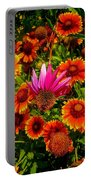 Fallen Coneflower Portable Battery Charger