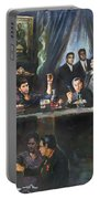 Fallen Last Supper Bad Guys Portable Battery Charger by Ylli Haruni