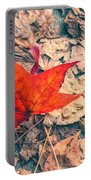 Fallen Red Leaf Portable Battery Charger