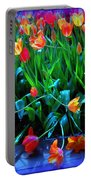 Fallen Tulips Portable Battery Charger