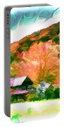 Falling Farm Blended Art Styles Portable Battery Charger