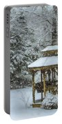 Falling Snow - Winter Landscape Portable Battery Charger