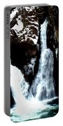 Falls In Winter Portable Battery Charger