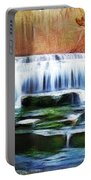 Falls Panorama-features In Groups Rivers Streams And Waterfalls-visions Of The Night Portable Battery Charger