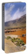 Famara Cliffs And Salinas Del Rio On Lanzarote Portable Battery Charger