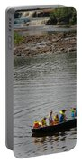 Family Canoeing At Lower Tahquamenon Falls Portable Battery Charger