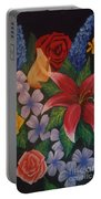 Family Flowers Portable Battery Charger