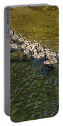 Family Of Geese On The Rogue River Portable Battery Charger