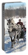 Family Sleigh Ride Portable Battery Charger