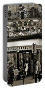 Famous Cafe De Flore - Paris Portable Battery Charger by Carlos Alkmin