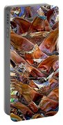 Fan Palm Trunk In Andreas Canyon In Indian Canyons-ca Portable Battery Charger