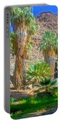 Fan Palms By The Creek In Lower Palm Canyon In Indian Canyons Near Palm Springs-california Portable Battery Charger