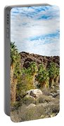 Fan Palms Line The Creek In Andreas Canyon In Indian Canyons-ca Portable Battery Charger