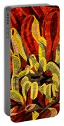 Fanciful Bold Floral Mosaic Portable Battery Charger