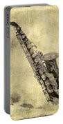 Fancy Antique Saxophone In Pastel Portable Battery Charger