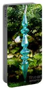 Fancy Blue Ornament Portable Battery Charger