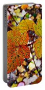 Fancy Fall Leaves Portable Battery Charger