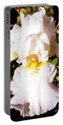 Fancy Lady White Iris Portable Battery Charger