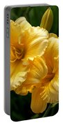 Fancy Yellow Daylilies Portable Battery Charger