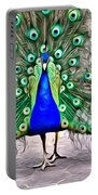 Fanning Peacock Portable Battery Charger