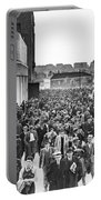 Fans Leaving Yankee Stadium. Portable Battery Charger by Underwood Archives