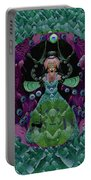Fantasy Cat Fairy Lady On A Date With Yoda. Portable Battery Charger