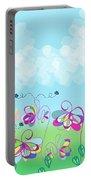 Fantasy Flower Garden - Childrens Digital Art Portable Battery Charger
