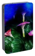 Fantasy Flowers Embossed Hp Portable Battery Charger