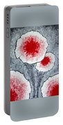 Fantasy Flowers In Red No 1 Portable Battery Charger