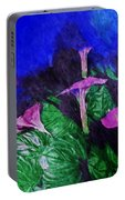 Fantasy Flowers Watercolor 2 Hp Portable Battery Charger