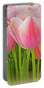 Fantasy In Pink - Tulips Portable Battery Charger
