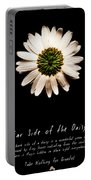 Far Side Of The Daisy Fractal Version Portable Battery Charger