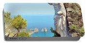 Faraglioni Rocks From Mt Solaro Capri Portable Battery Charger