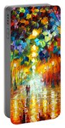 Farewell To Anger Portable Battery Charger by Leonid Afremov