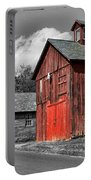 Farm - Barn - Weathered Red Barn Portable Battery Charger